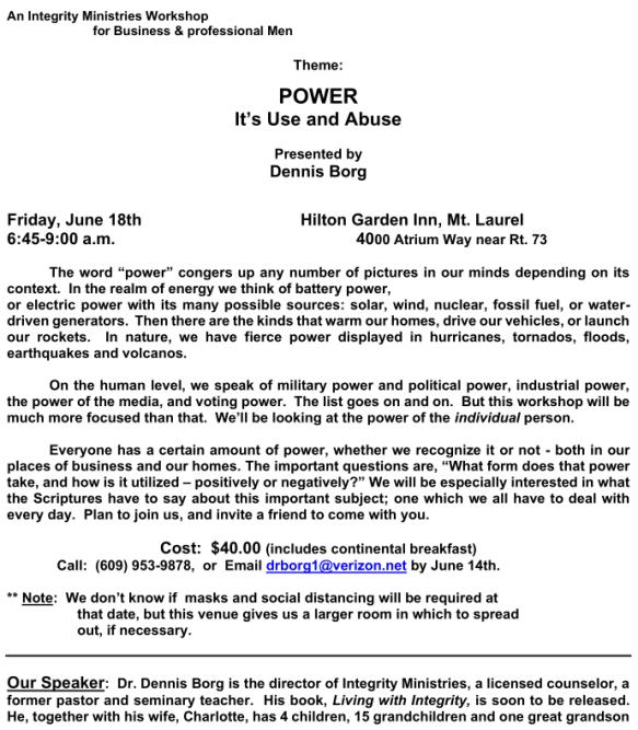 IntegrityMen - BLC Flyer for 6-18-21